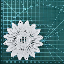 Naifumodo Flower Dies Sunflower Metal Cutting for Scrapbooking Embossing Cut Stencils Cards Craft