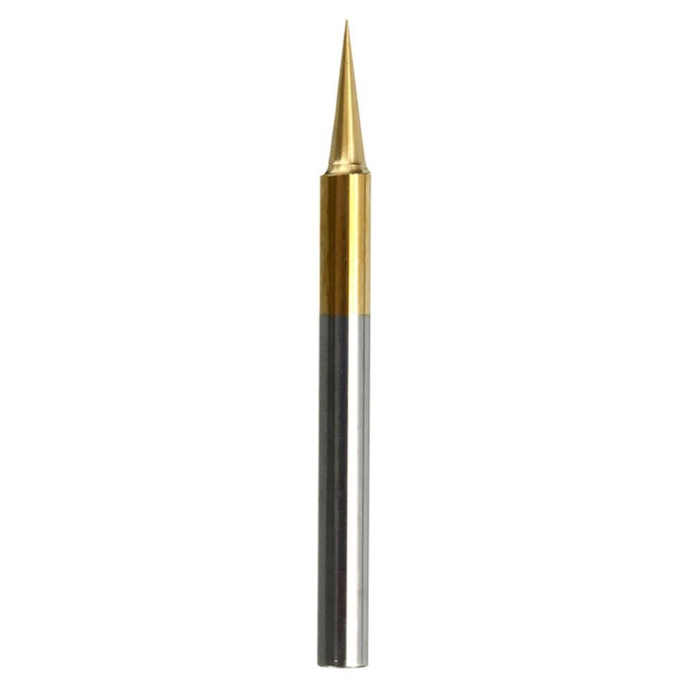 0,1mm 15 Grad Gravur Bit Cnc-fräser Werkzeug Titan Beschichtet Hartmetall Flachen Boden PCB DIY Carving Werkzeuge für Modell holz Metall