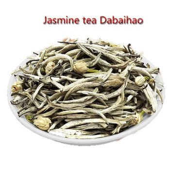Jasmine tea 100g sealed pocket jasmine silver needle Jasmine big white aroma Jasmine White Silver Needle 100g фото