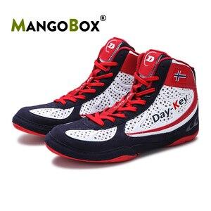 Zapatos de lucha para hombre y mujer, zapatillas de boxeo antideslizantes Unisex, calzado de gimnasio de lucha profesional, Equipo de Boxeo, gran oferta