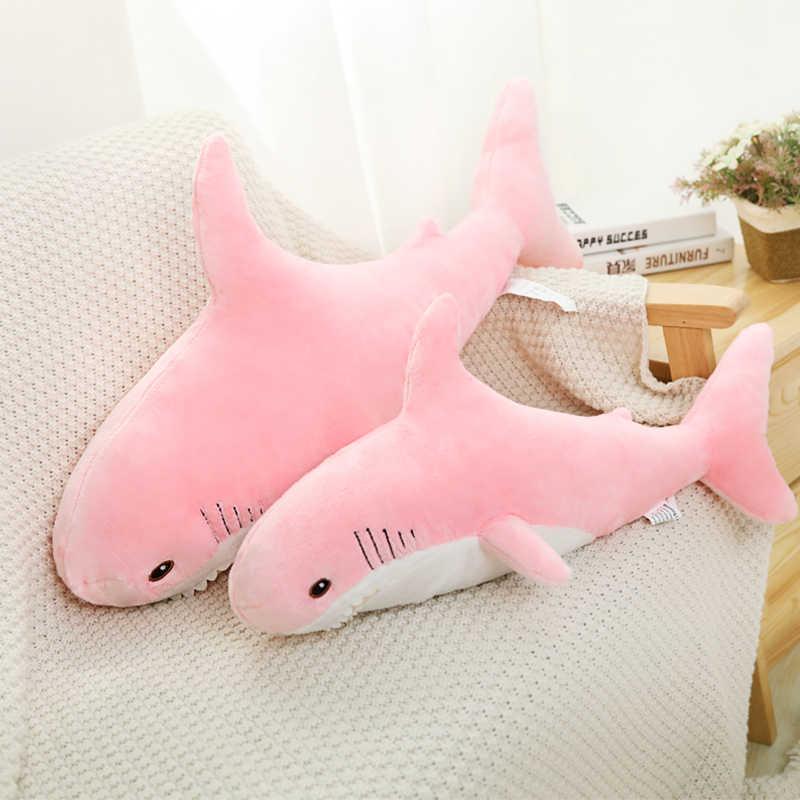 Köpekbalığı peluş oyuncaklar popüler uyku yastığı seyahat arkadaşı oyuncak hediye köpekbalığı sevimli doldurulmuş hayvan balık yastık oyuncaklar çocuklar için