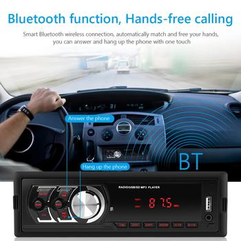 Car Radio MP3 Player 1781E Single DIN Detachable Display BT AUX USB Head Unit for Outdoor Personal Car Accessories image
