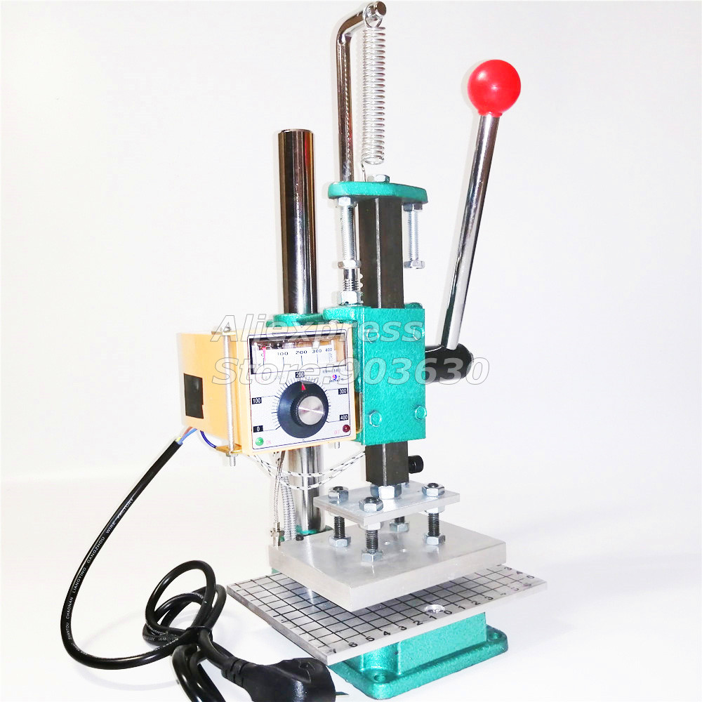BEST QUALITY NEW MANUAL HOT FOIL STAMPING MACHINE CREASING MCHINE MARKING PRESS LEATHER STAMPING PRINTER EMBOSSING MACHINE in Power Tool Sets from Tools