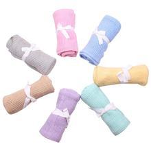 Baby Blanket Swaddle-Wrap Newborn Quilt Bedding Sofa-Basket Knitted Super-Soft Infant