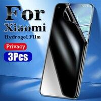 Mi 11 Ultra Anti-Peeping Screen Protector Für Xiaomi 10 Pro Privatsphäre Hydrogel Film Schwarz Shark 4 Redmi Hinweis 10 5G Weiche