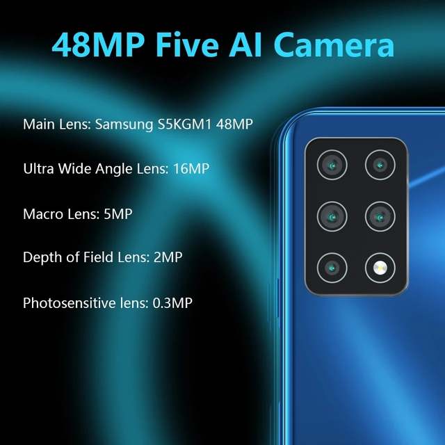 """Cubot X30 NFC Smartphone 48MP Five Camera 32MP Selfie 8GB+128GB 6.4"""" FHD+ Fullview Display Android 10 Global Version Helio P60"""