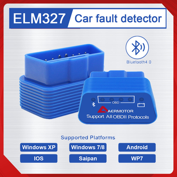 AERMOTOR ELM327 OBD Diagnostic Instrument Support All OBD2 Protocols Car Engine Fault Diagnosis OBD2 Scanner For IOS Android image