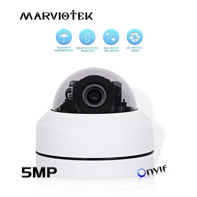 كاميرا IP 5MP في الهواء الطلق مقاوم للماء أمن الوطن IP كاميرا بشكل قبة في الهواء الطلق 4X زووم بصري شبكة PTZ CCTV كاميرا صغيرة HD POE P2P IR