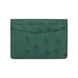Unisex Genuine Leather Card Holder Men Women Fashion Brand Luxury Case Real Ostrich Leather Credit Card Holder Small Bag Wallet