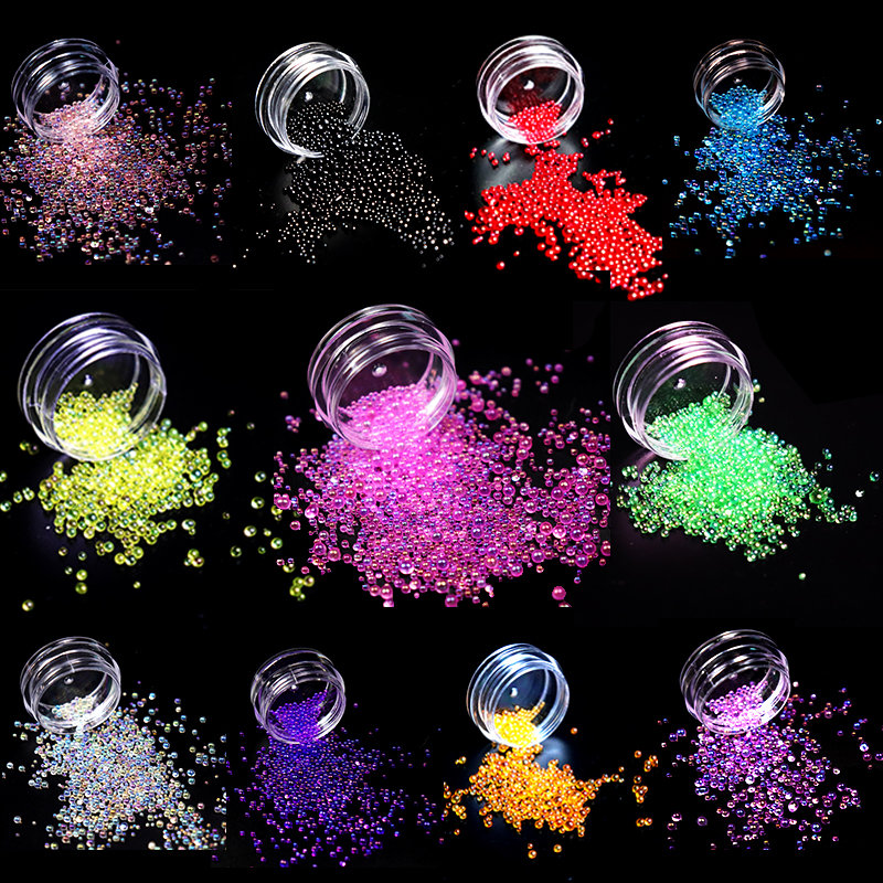 1.5-2mm Colorful Bubble Beads Jewelry Filling Nail Art Transparent Expoxy Resin Jewelry Accessories
