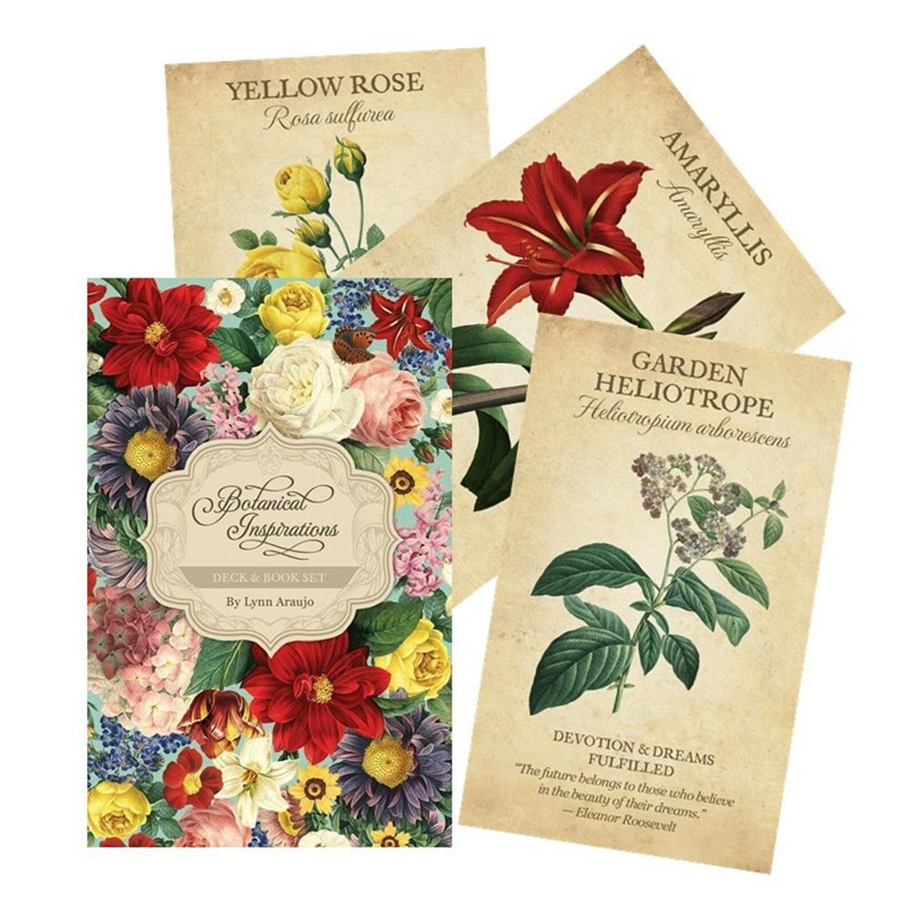 Лидер продаж! Ботаническое вдохновение, карты с изображением ораклов, Таро-гадания, настольная игра, изысканный цветок для женвечерние