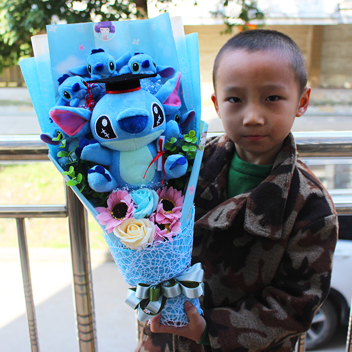 Hot Stitch Plush Toys Anime Lilo And Stitch Soft Stuffed Animal Dolls Kawaii Stich Plush Bouquet Gift For Kids Birthday Gift