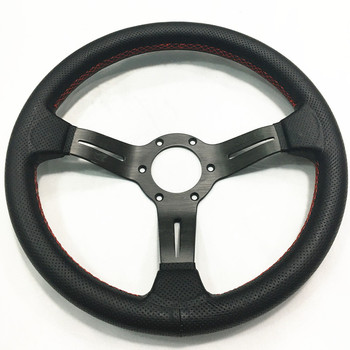 New ND 13inch/330mm  Genuine Leather Steering Wheel Drift Sport Steering Wheels