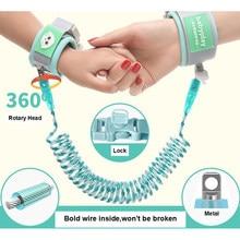 Coleira para bebê, coleira de peitoral anti-perda, ligação para crianças, passeio ao ar livre, faixa para mão, pulseira
