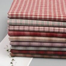 145x50 см Рождественская красная сетчатая хлопковая ткань, чистый хлопок, весенняя и осенняя новая стильная одежда, ткань для шитья 200 г/м