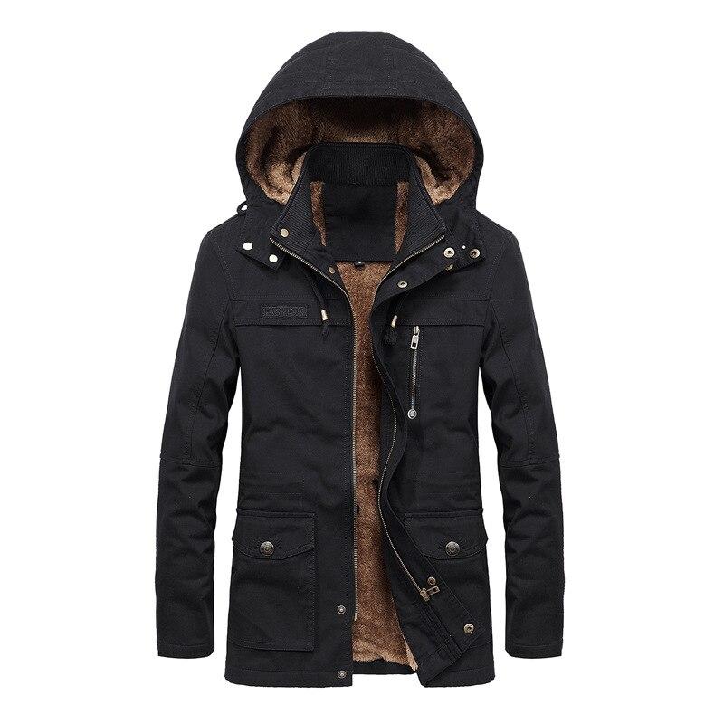 Men's Winter Jacket Men Warm Fleece Lining Coat Mens Jackets And Coats Male Windbreaker Casual Hoodies Jacket veste homme  MY151