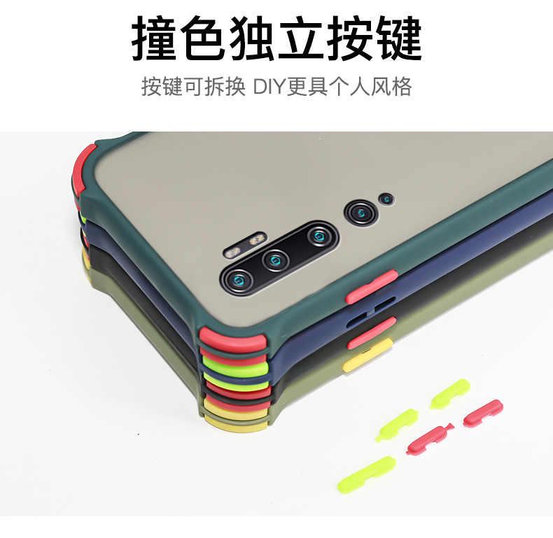 ためxiaomi mi note 10 liteケースハードpc透明マット耐震性保護バックカバーケースxiaomi mi note 10 プロnote10