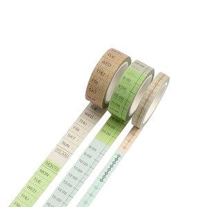 Творческий сроки недельный план японский васи лента клейкая лента для художественного оформления ногтей, ручная работа, ежедневник, наклей...