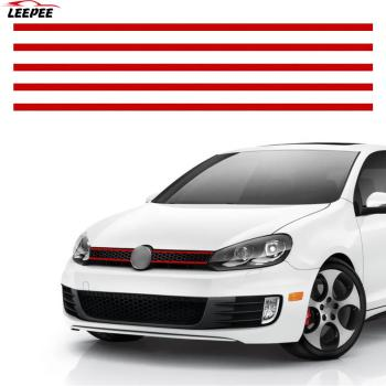 Car Strip Sticker Reflective Stickers Front Hood Grille Decals Auto Decoration Car Styling For VW Golf 6 7 Tiguan image