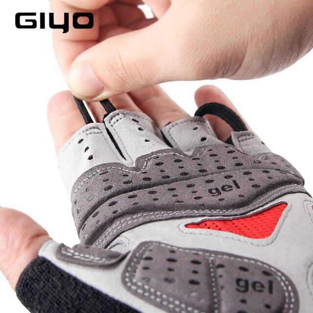 Giyo luvas sem dedos para ciclismo, luva de gel respirável para homens e mulheres para esportes ao ar livre, mtb, corrida de estrada e ciclismo dh 5