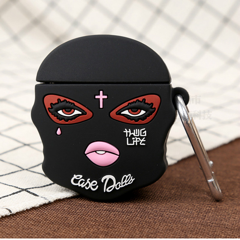 3D Mask Girl Tear Jesus Christian Cute Dolls Silicone Bluetooth Wireless Earphone Case For Apple AirPods 1 2 Cover Box Hea