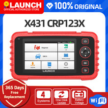 LAUNCH CRP123X Obd2 Scanner Auto Code Reader Car Diagnostic Tool ENG AT ABS SRS WIFI Diagnostic Scanner Obd Automotive Launch