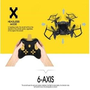 Image 5 - Q2 Mini Drone Wifi FPV RC katlanabilir Selfie ile kamera Drone 0.3MP kamera 2.4G tutum tutun RC cep oyuncak mini yarış quadcopter