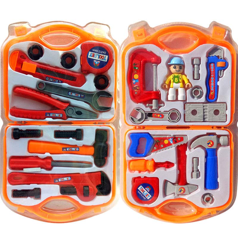 Kids Tool Kit Educational Toys Simulation Repair Tools Toys Drill Plastic Game Learning Engineering Puzzle Toys Gifts For Boy