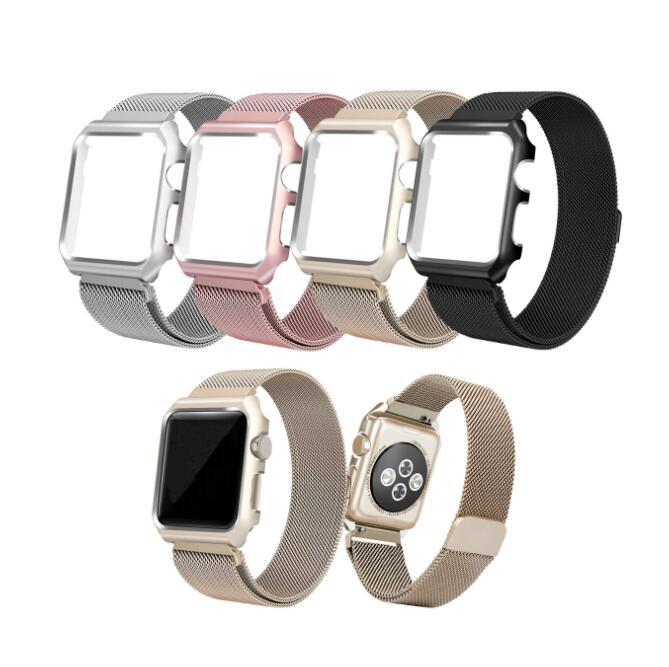 Applicable APPLE Watch Smart Watch One Two Three Generation Milan Nice, Nizza Magnetic Sucker Watch Strap + Metal Character And