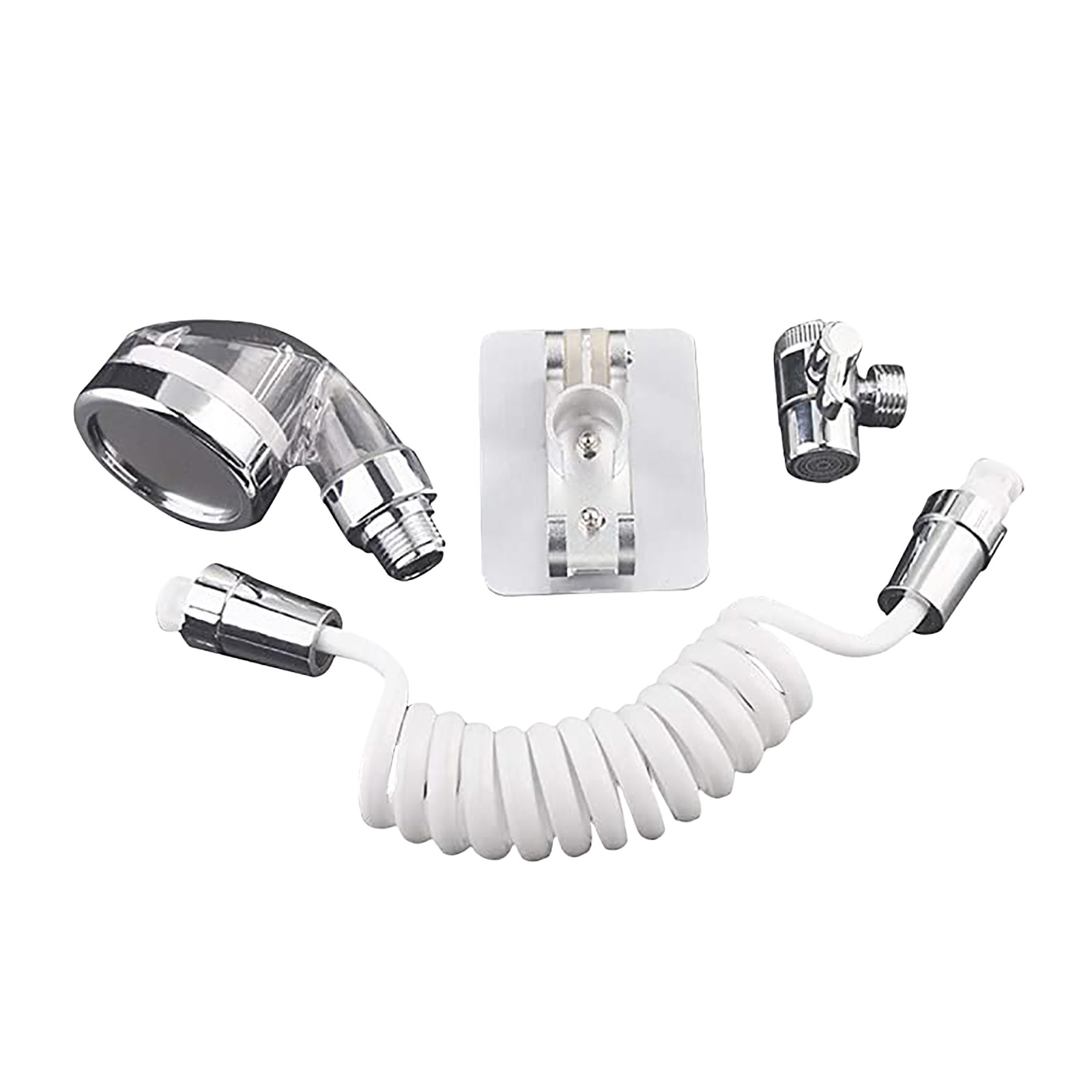 Hf67e0063db184861a8926491ddf9b9f1P Bathroom Wash Face Basin Water Tap External Shower Head Toilet Hold Filter Flexible Hair Washing Faucet Rinser Extension Set #40