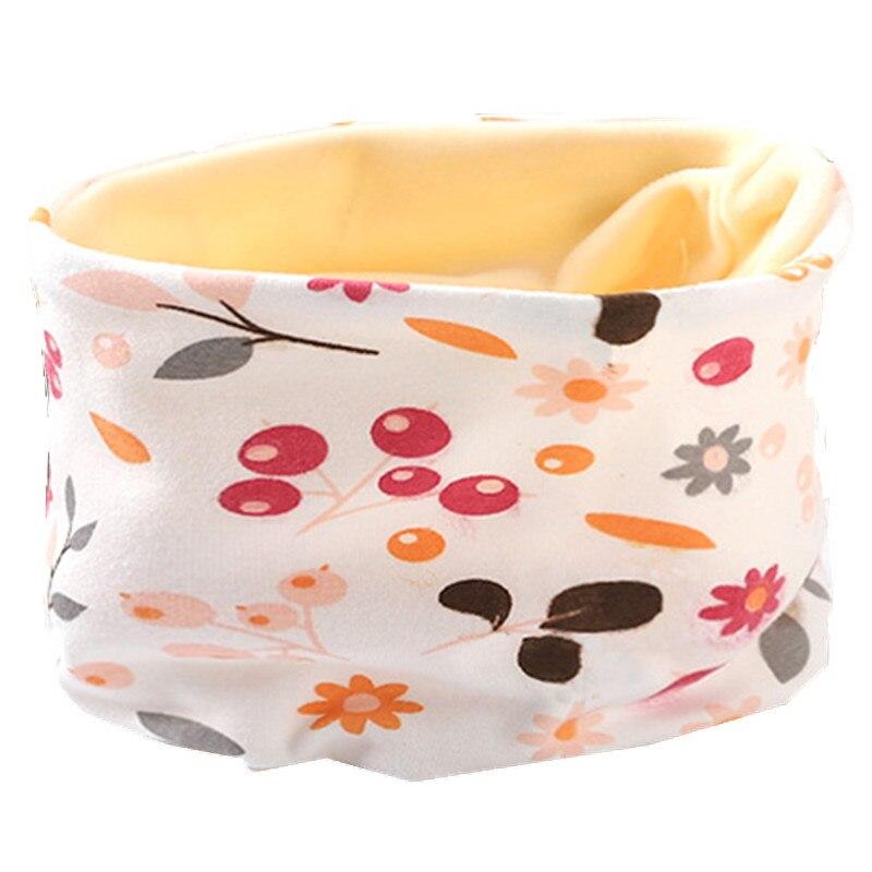 Осенне-зимний детский хлопковый плюшевый шарф, детский шарф для девочек, шарфы для мальчиков и девочек, детский воротник, детский волшебный шейный платок с круглым вырезом - Цвет: plush flowers
