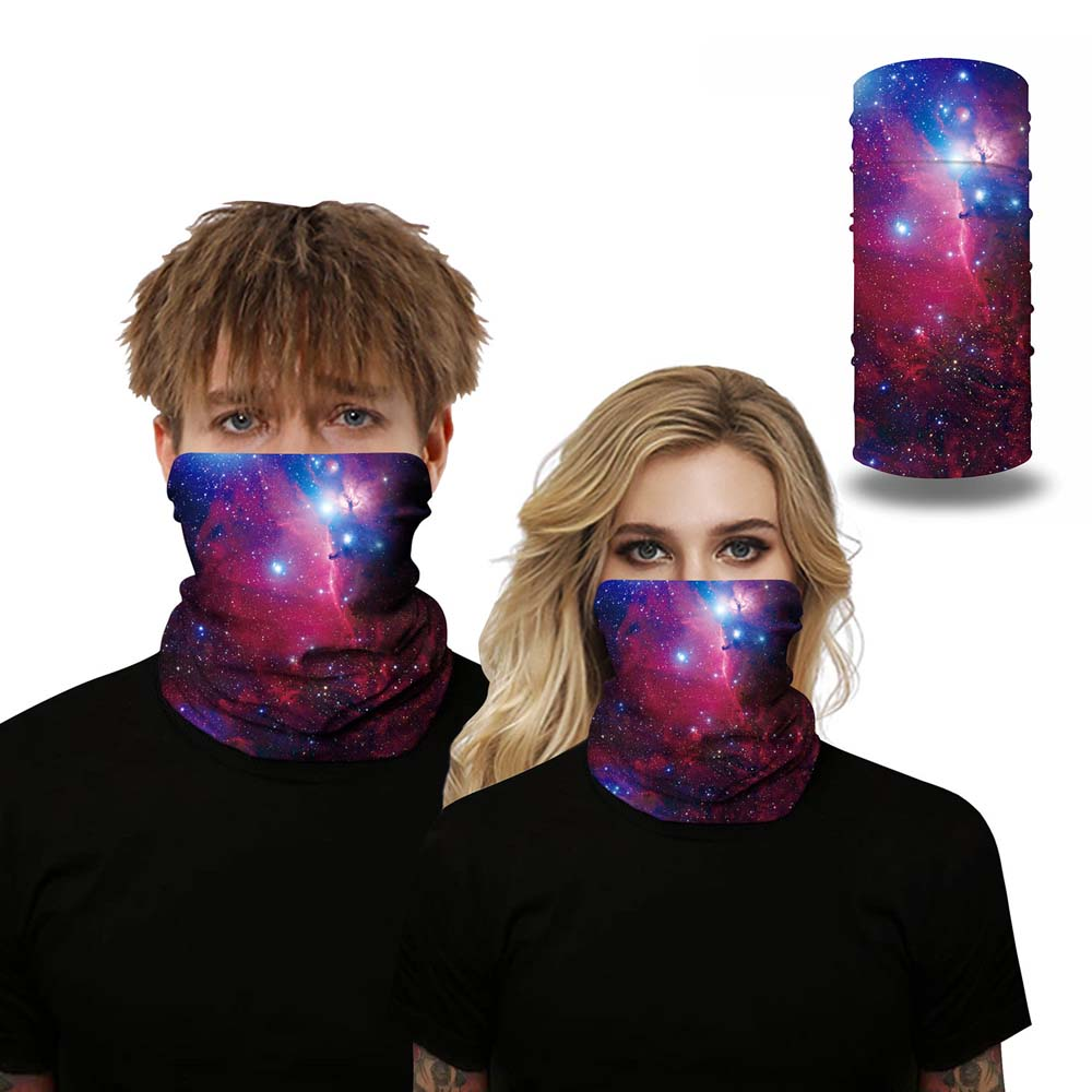 3D Seamless Galaxy Face Neck Mouth Cover Tube Scarf Motorcycle Cycling Bike Ski Outdoor Bandana Face Scarf