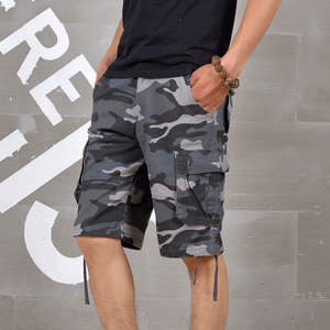 Cargo-Shorts Camouflage Loose Military Army-Style Male Men Casual Summer High-Quality