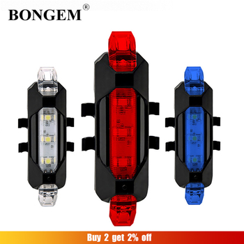 Lantern For Bike Light USB Rechargeable Tail Lamp Mountain Bicycle Taillight Cycling Flashlight Safety Warning LED image