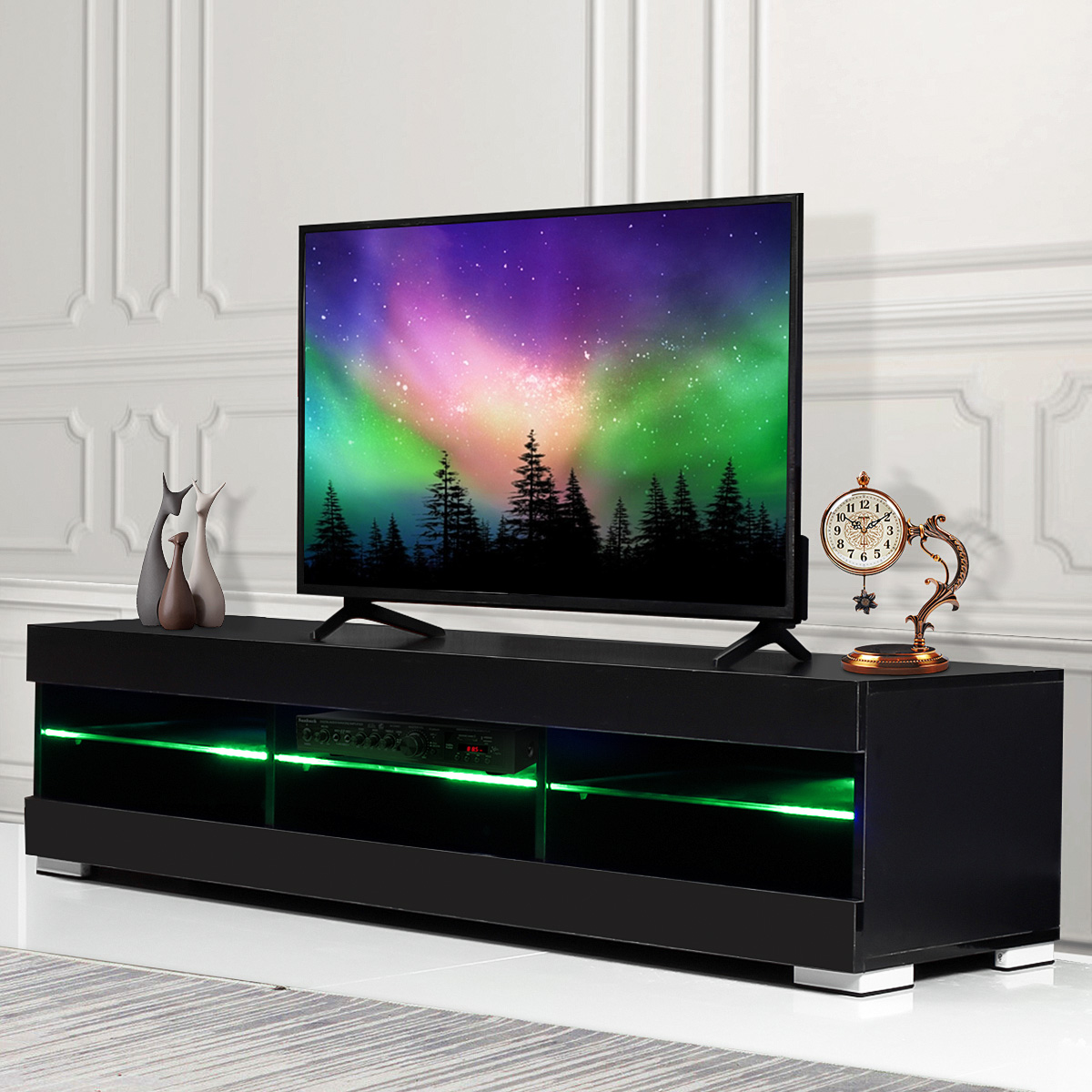 57 Tv Cabinet Modern Led Tv Stands Living Room Furniture Detachable Tv Unit Bracket With 6 Open Drawers Home Furnishings Tv Stands Aliexpress