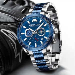 Image 3 - Relogio Masculino 2020 MEGALITH Sport Watch Men Aircraft Pointer Date Calendar Mens Watches Luxury Waterproof Quartz Watch Gents