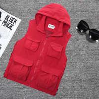 Chaleco de malla con múltiples bolsillos para hombre, chaqueta transpirable verde militar sin mangas de 179CM para primavera y otoño, B901KG