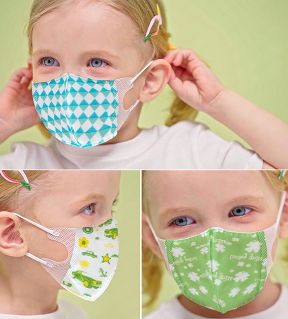10 pcs Baby Care Kids Mouth Mask Anti Dust Activated Carbon Filter Windproof Mouth-muffle Bacteria Proof Flu Children Face masks 3