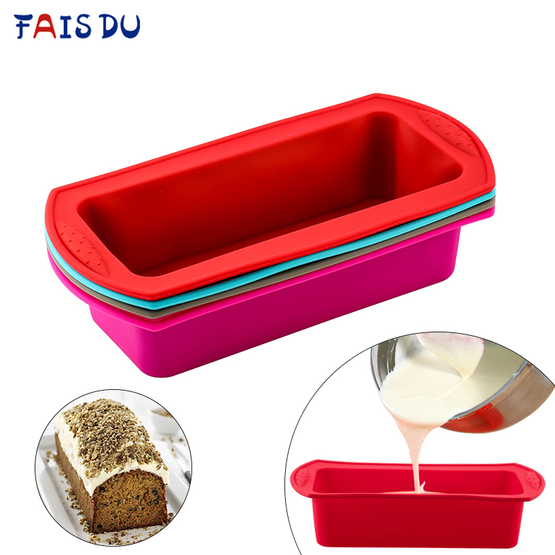 Rectangular Silicone Mold Baking Tools Candy Toast Mould Easter Bread Baking Tool DIY Kitchen Supplies Cake Bakeware Pan