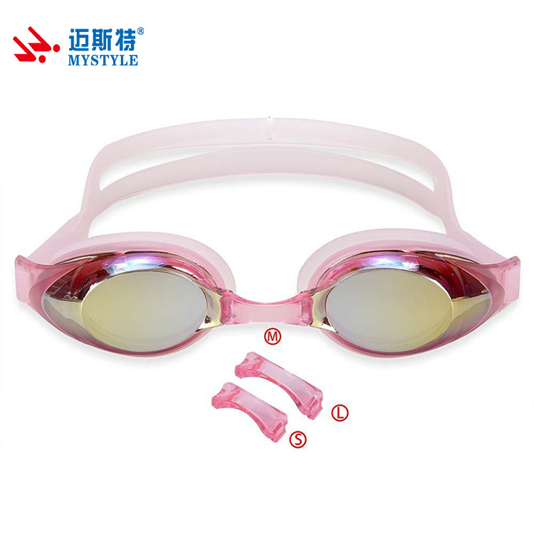 Meister Base--Nose Bridge Electroplated Swimming Goggles Adult Men And Women Goggles Top Grade Anti-fog Swimming Goggles
