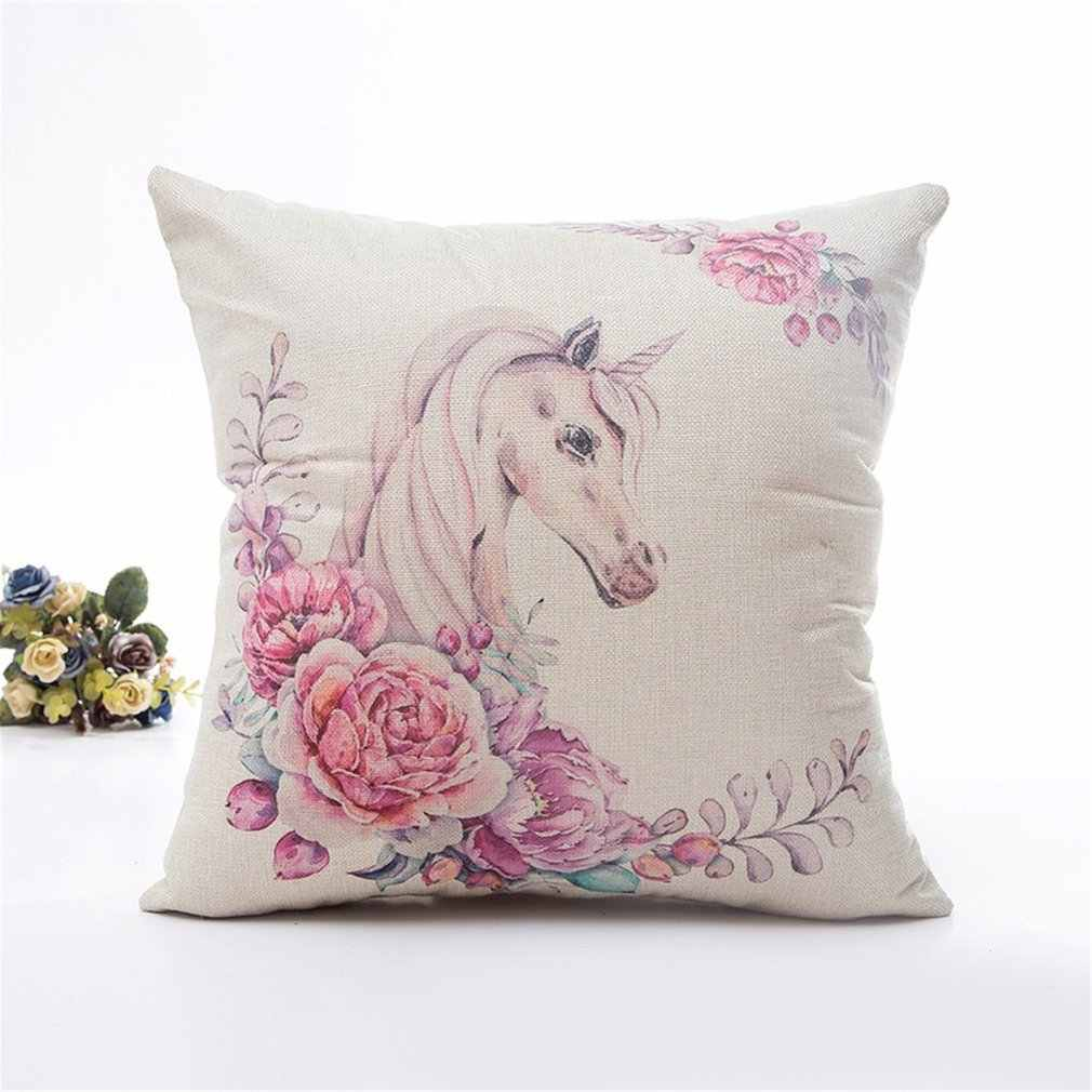 2018 HOT Animal  Pillow Cover Flower Printing Luxury Comfortable Cushion Invisible Zipper Pillow Case for Home Office Use