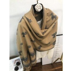 Freeshipping 2020 Women Winter Cashmere Scarf Pashmina Shawls Female Thick Blanket Wraps Foulard Scarves Bandana Hijab Poncho