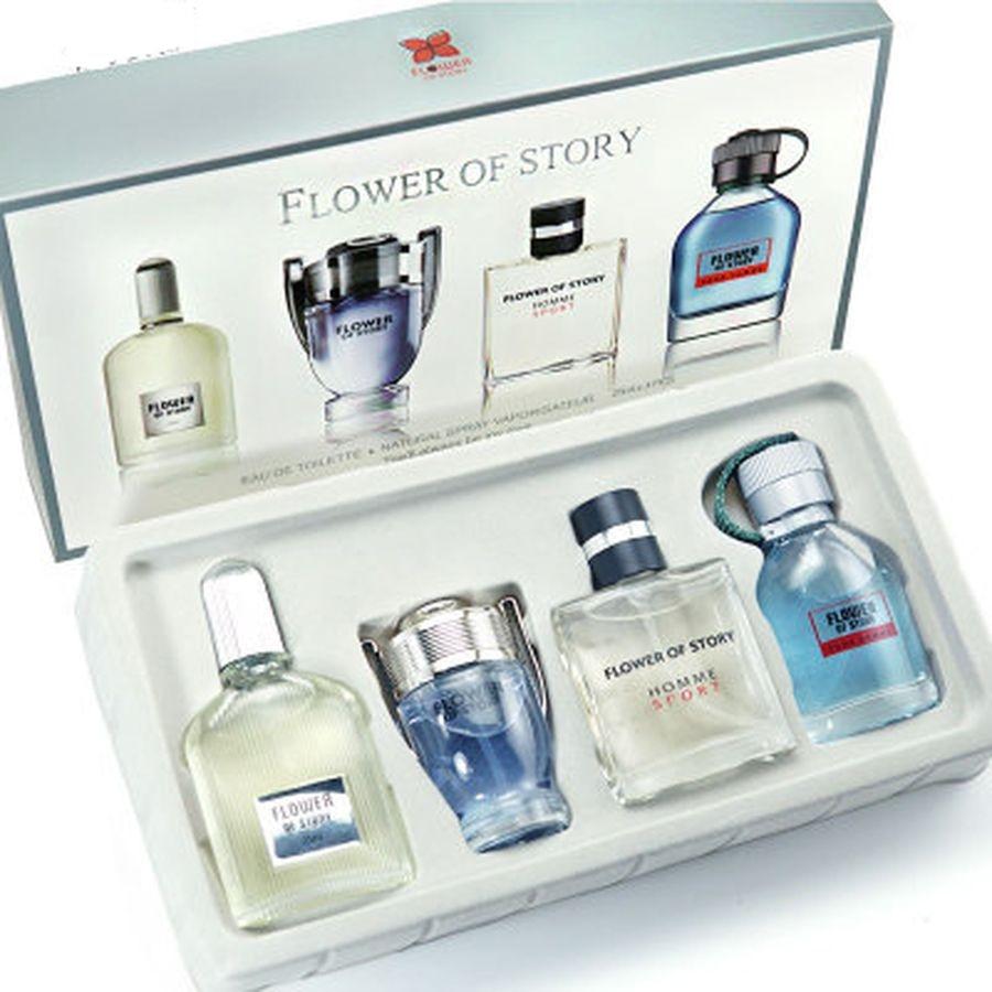 NIVEY YAZI 4pcs Men Perfumed Various Scent Long Lasting Fragrance Mini Bottle Spray Portable Gentlemen Parfum For Male Elegant