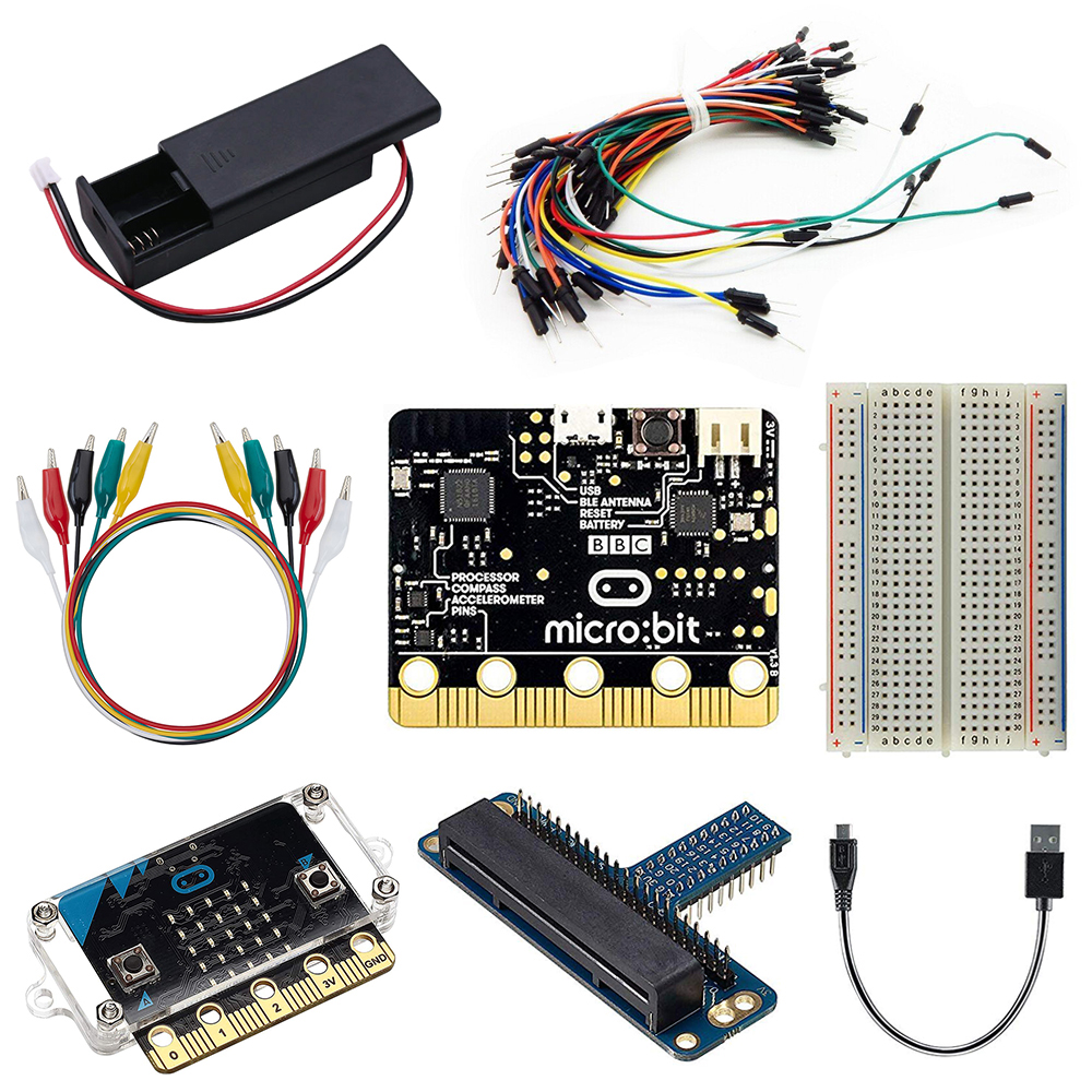 BBC micro bit board Micro bit Starter Kit Microbit Board case Alligator Clips  expanding board Used for Teaching DIY Beginners