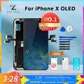 AAA + + + Für iPhone X OLED Mit 3D Touch Digitizer Montage Keine Tote Pixel LCD Bildschirm Ersatz Display Für iPhoneX LCD mit Geschenk