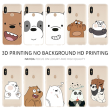 Fashion Soft TPU Case Cover For Coque Xiaomi Redmi 4X 4A 6A 7a Y3 K20 5 Plus Note 8 7 6 Pro Lovely Bare Bears