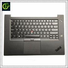 لوحة المفاتيح الإنجليزية الخلفية مع غطاء لينوفو ثينك باد P1 X1 المتطرفة 1st Gen SN20R58769 SN20R58841 01YU756 01YU757 90% جديد