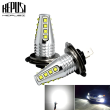 2x H7 LED Bulb cree chip 80w Car Fog Lights 12V 24V 6000K White Motor Truck DRL Driving Day Running Light Auto Led H7 Bulb free shipping h7 80w high power cob led car auto drl driving fog tail headlight light lamp bulb white 12 24v