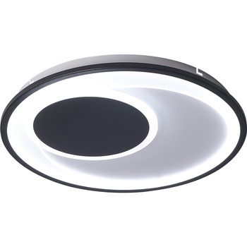 Nordic Simple Black And White Creative Round Ceiling Lamp Bedroom Corridor Rings Led Ceiling Lights For Living room Bedroom