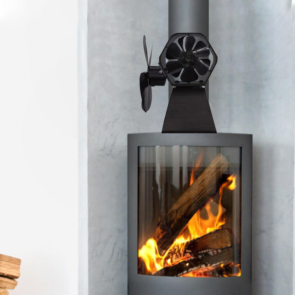 Fireplace Fan Heat Powered Stove Fan Wood Log Burner Eco Friendly Quiet Fan Home Efficient Heat Distribution Home Accessories